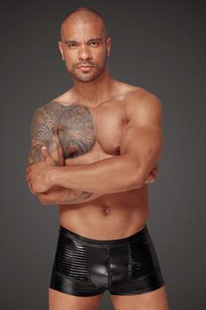 "Boxershorts i Power wetlook og ""Lak"" PVC"